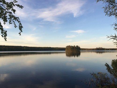landscape  lake  lapland