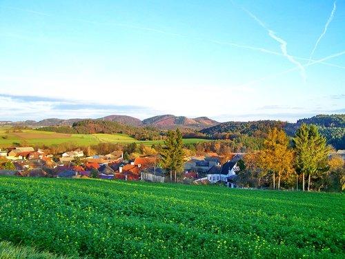 landscape  village  idyllic view