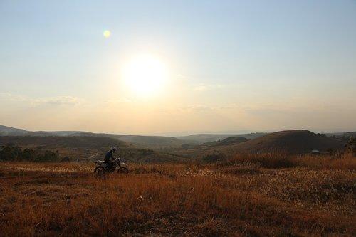 landscape  idyll  motorcycle