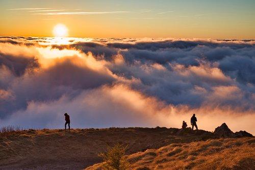 landscape  mountain  summit