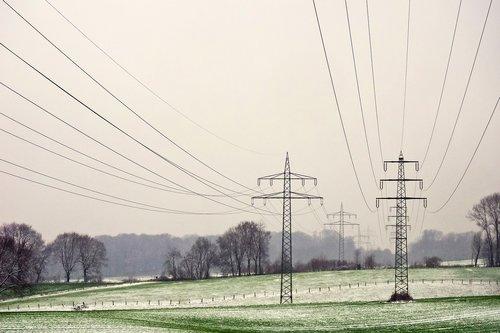 landscape  power poles  energy