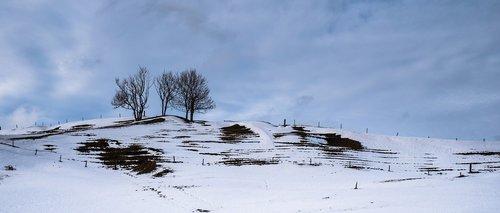 landscape  snow landscape  snow melt