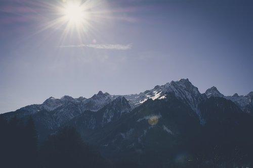 landscape  mountain  sun