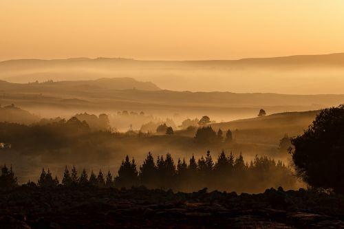 landscape valley mist