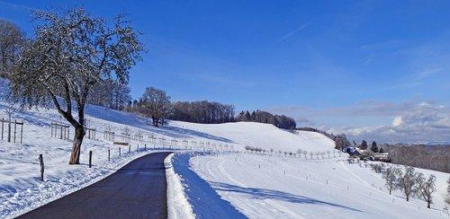 landscape  switzerland  winter