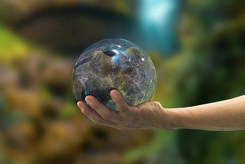 landscape  ball  reflection