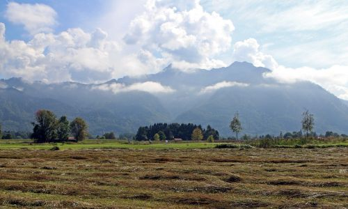 landscape chiemgau mountains