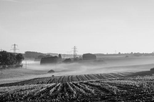 landscape fog sunrise
