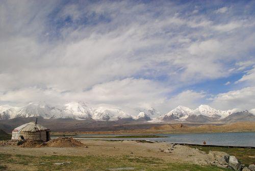 landscape yurt lake