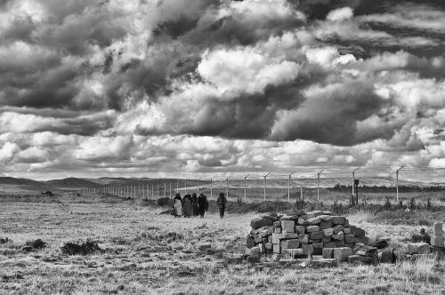 landscape heavy clouds travel