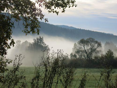 landscape fog haze