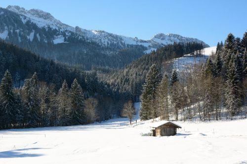landscape bavaria winter