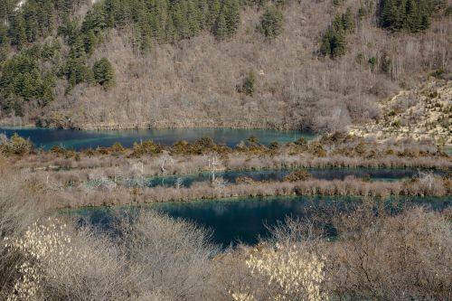 landscape scenery jiuzhaigou