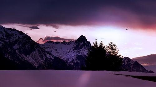 landscape mountains mountain peaks