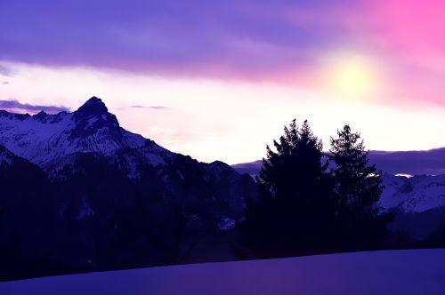 landscape wintry snow