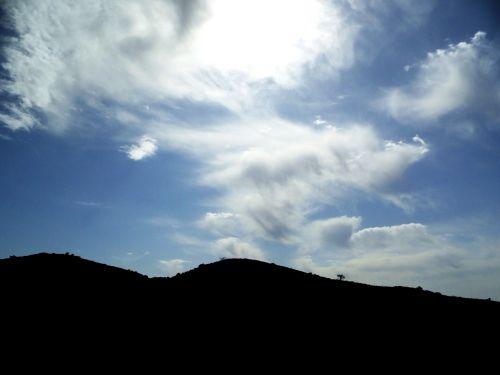 landscape backlight sky