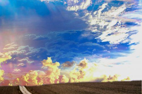 landscape horizon clouds