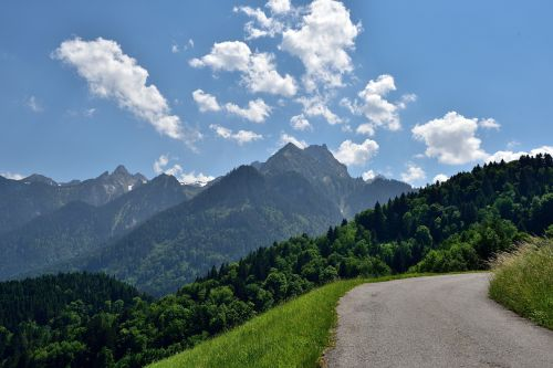 landscape away mountain road
