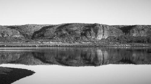 landscape black and white nature