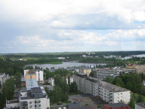 landscape city block of flats