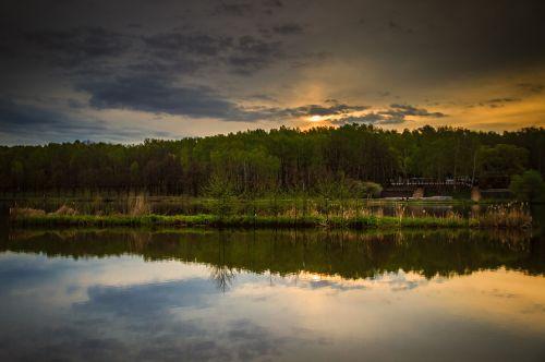 landscape sunrise water