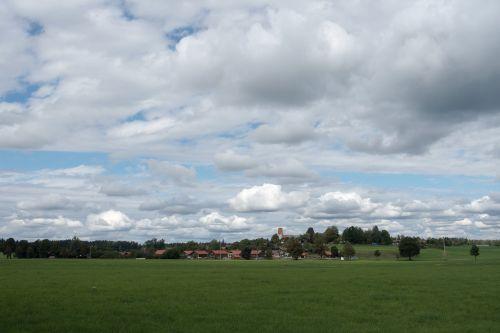 landscape upper bavaria village