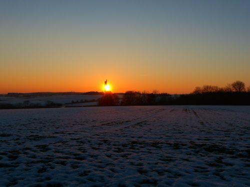 landscape wintry winter