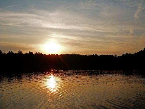 landscape sunset sun