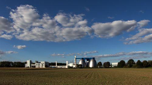 landscape clouds chemical plant