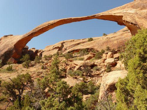 landscape arch arches national park usa