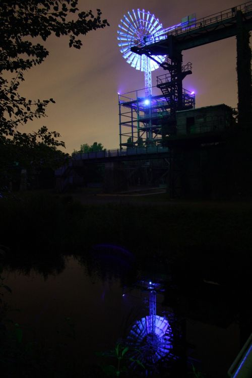 landscape park duisburg pinwheel light