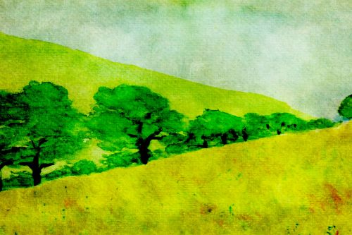 Landscape, Trees Painting