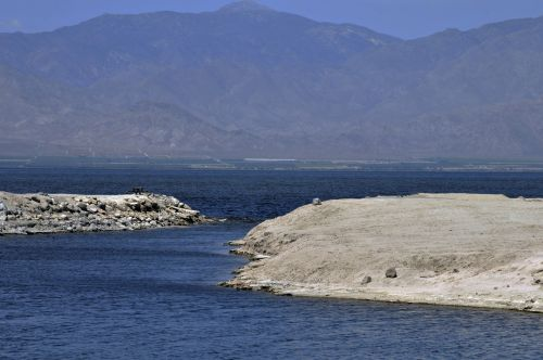 Landscape View Of Salton Sea