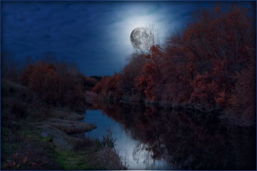landscapes moon night