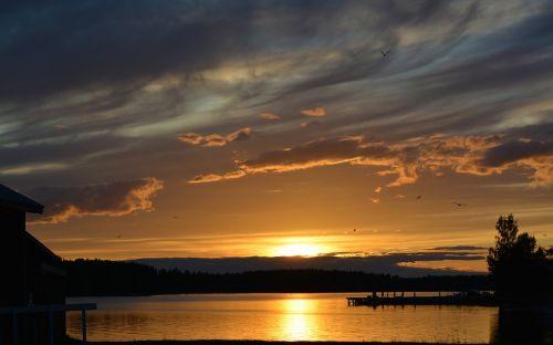 landscapes sunset summer