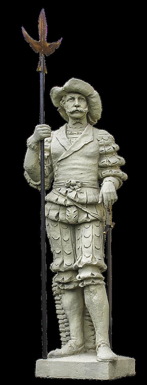 landsknecht statue halberd