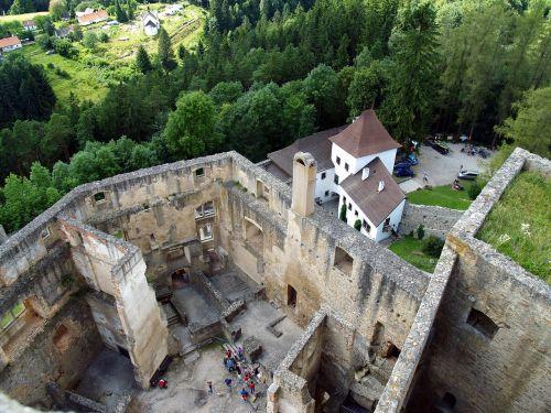 landštejn castle the fortifications
