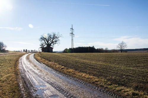 lane arable muddy