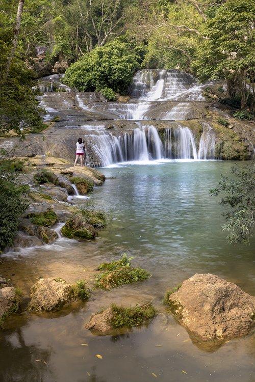 lang son  the waterfall  vietnam