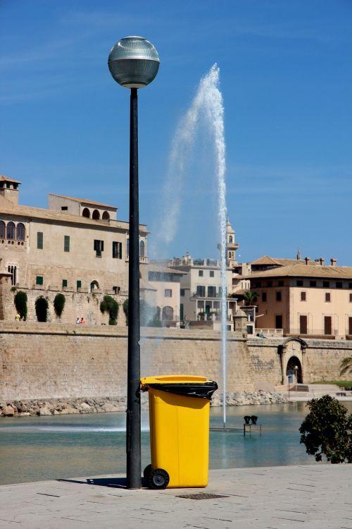 lantern water feature dustbin