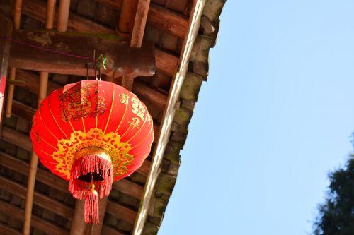 lantern housing blue sky