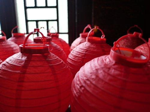 lantern  red  china