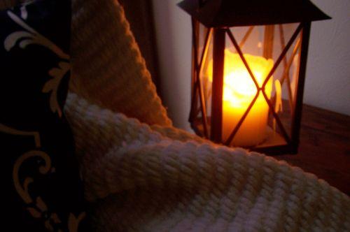 lantern candle blanket