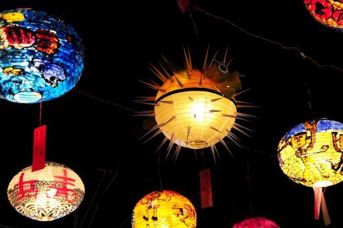 žibintų festivalis,žibintas,gėlė 燈