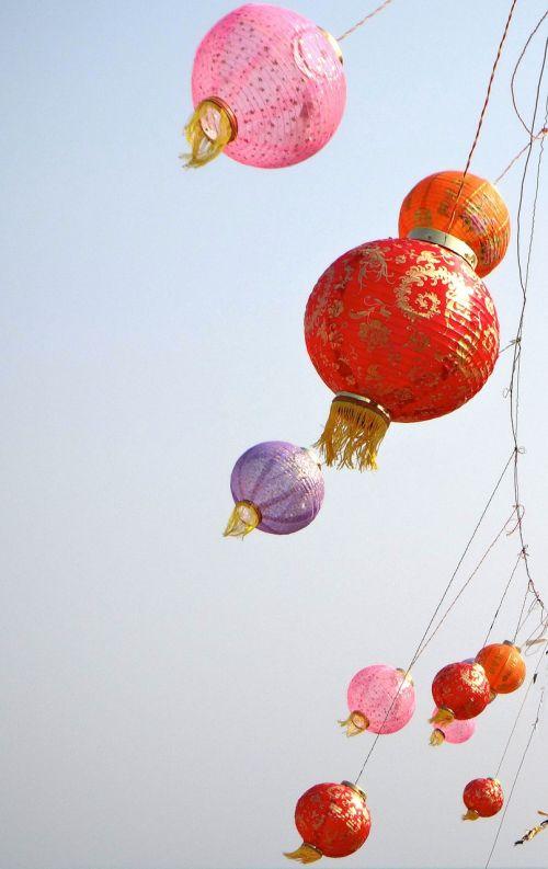lanterns sky japanese