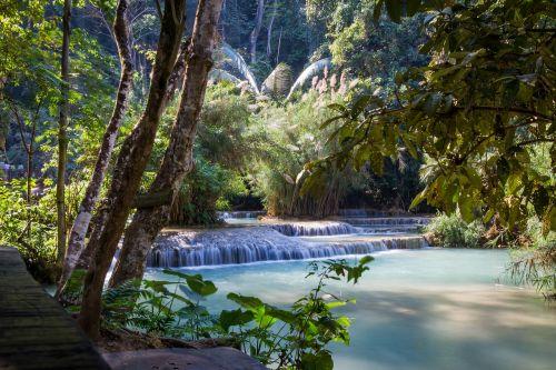 lao waterfall kuang si falls