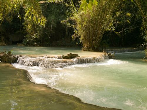 laos luang prabang waterfall