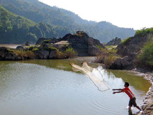 laos mékong fishing