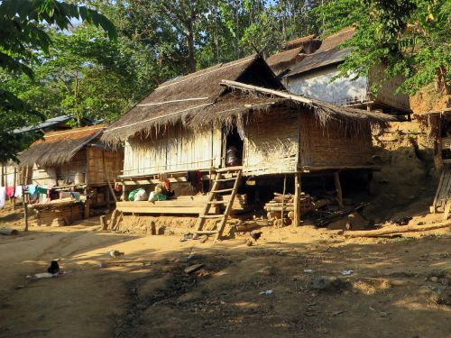 laos village houses