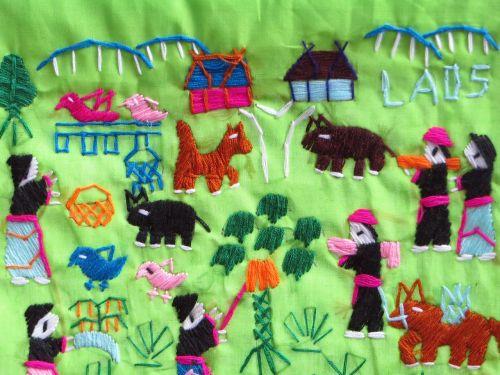 laos folk art embroidery